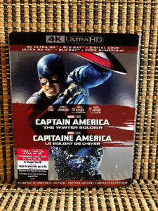 Captain America 2: The Winter Soldier 4K (2-Disc Blu-ray, 2019)+