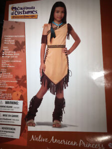 Costume Halloween Indienne 6-9 ans 20$