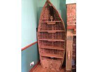 BOAT BOOKSHELF - bespoke real clinker built boat