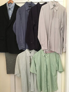 Men's Clothing Items (EUC) packaged in High Quality Garment Bags