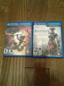 PSVITA games sly copper and assassin's creed 3