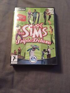 Sims triple deluxe /3  jeux ordinateur 10$