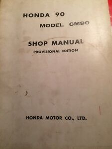 1966 Honda 90 CM90 Shop Manual