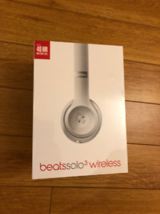 Beats Solo3 wireless headphones, Silver , Sealed box