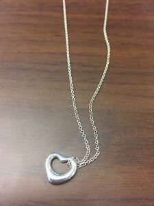 Original Tiffany Necklace & Open Heart Pendant (Sterling Silver)