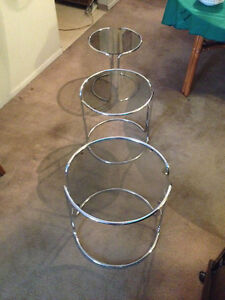 Chrome Stackable End Tables