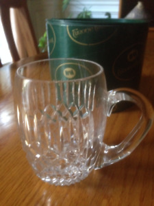 Tyrone crystal half-pint beer mug