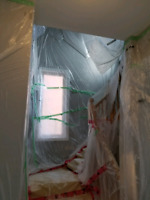 Popcorn ceiling removal - flat ceilings