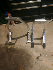 Aluminum motorcycle stands