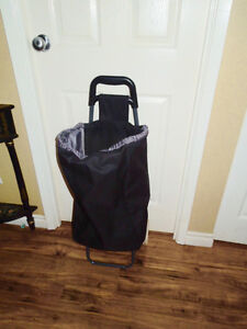 Rolling Canvas Bag Shopping Cart