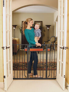 Regalo Home Accents Extra Tall Walk Thru Gate, Hardwood & Steel