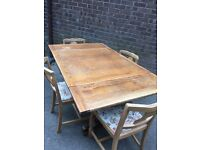 Antique Solid Wood Table ( Extendable) and 4 Chairs