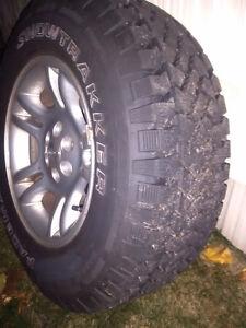 P245/70R16 Snow Tire Set on Rims