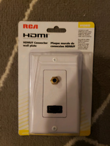 Hdmi connector wall plate