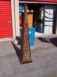 6 foot tall  metal pyramid