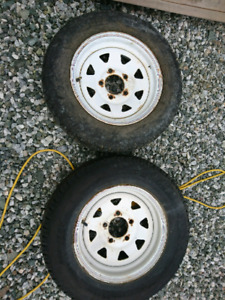 Two Trailer Rims 13 inch 5 bolt pattern