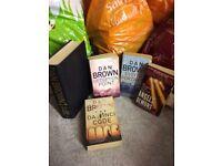 4 Dan brown books job lot