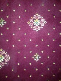 Burgundy patterned carpet £30