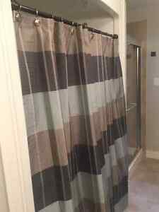 shower curtain, rod and ss  hooks