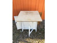 Shabby chic drop leaf table