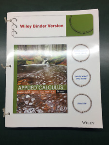 Wiley Applied Calculus 5th Ed. Textbook: UPEI MATH-1120