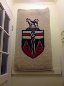 Hooked rug of Yukon Coat of Arms