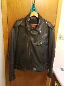 Yamaha leather motorcycle jacket Large