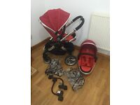 Icandy peach single / double pushchair with rain covers