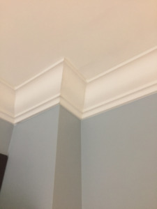 Crown Moulding, Wainscotting & Coffered Ceiling