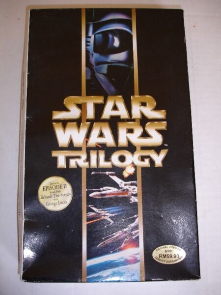 STAR WARS TRILOGY (Special Edition) -MALAYSIAN -3 VCD Set