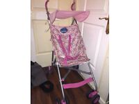 Pink floral lightweight buggy