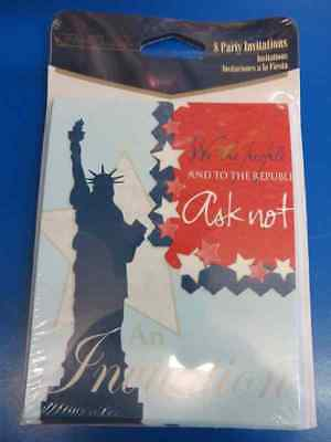 Liberty We the People USA Patriotic 4th of July Party Invitations w/Envelopes