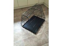 Sloping dog cage