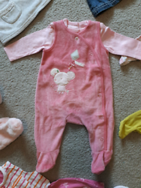 Bundle of clothes for a baby girl size 0-3 months