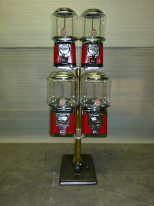 4 Brand New Beaver Gumball and Candy Machines on Stand