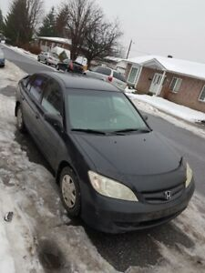 2005 Honda Berline Civic LX-G UN PEU NEGOCIABLE