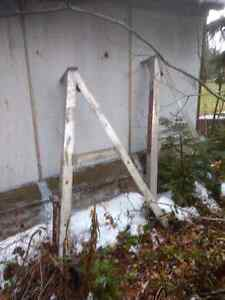 A Frame legs  Heavy duty, Aluminum.Industrial strength. Prince George British Columbia image 2