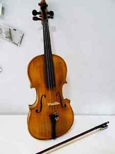 folk FIDDLE VIOLIN vintage antique HANDCRAFTED inlay abalone MOP