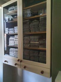 2x cream cabinets ikea style . Hangs on wall ..
