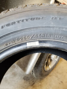 4 tires for sale P265/65R18
