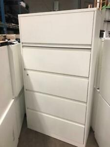 Steelcase 5 Drawer Lateral File In White