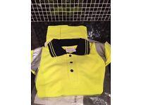 6 Hi-viz polo shirts size Large