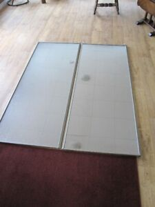Set of 3 Mirrored Closet doors (6 doors) and Hardware for sale