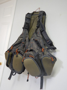 Used Fly Fishing Backpack  and Chest Bag