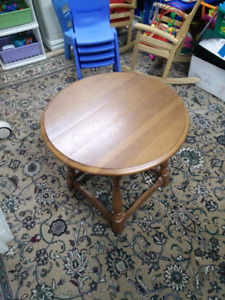 Small Round Wooden Table for SALE!