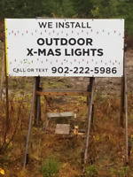 Xmas Light Install ( Outside ) Booking  NOW * 902-222-5986