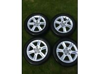 """Audi 16"""" Alloys with tyres"""