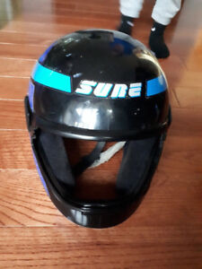 Blue/Black Motorcycle Helmet - Medium