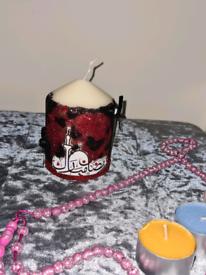 Ramadan Small Pillar Candle