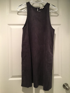 Wilfred Charcoal Grey Suede Sleeveless Dress